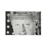 Government Bill Clinton Rectangle Magnet (100 pack
