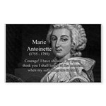 Courage Marie Antoinette Rectangle Sticker