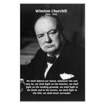 World War 2 Churchill Large Poster