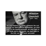 World War 2 Churchill Rectangle Magnet (10 pack)