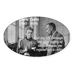 Marie Curie Physics Liberty Oval Sticker