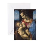 Woman and Child: Da Vinci Greeting Cards (Package