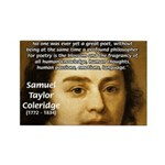 Samuel Taylor Coleridge Poet Rectangle Magnet (10