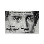 Irony Freedom of Speech Rectangle Magnet (100 pack