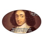 Spinoza Ethics Philosophy Oval Sticker