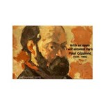 Cezanne Famous Paris Quote Rectangle Magnet