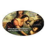 Leonardo da Vinci Art Spirit Oval Sticker
