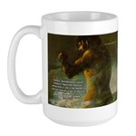 Goya Colossus Fantasy Quote Large Mug