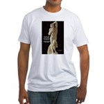 Michelangelo Angel in Sculpture Fitted T-Shirt