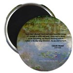 """Monet Painting: Beauty Quote 2.25"""" Magnet (100 pac"""