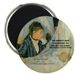 Female Artist Morisot Quote Magnet