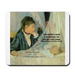 Female Artist Morisot Quote Mousepad