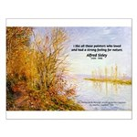 Alfred Sisley Nature Quote Small Poster
