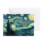 Starry Night Vincent Van Gogh Greeting Cards (Pack