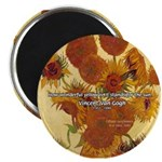 """Van Gogh Painting & Quote 2.25"""" Magnet (100 pack)"""