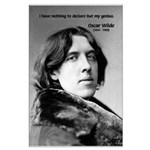 Playwright Oscar Wilde Large Poster